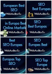 European Search Engine Marketing #WebAuditor.Eu for Consulting Advertising Top Shop's #EuropeanSEO #EuropeanSearchMarketing #EuropeanContentMarketing #EuropeanDigitalMarketing