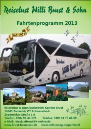 Fahrtenprogramm 2013 - Willi Brust & Sohn