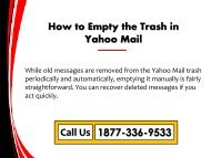 How to Empty the Trash Folder in Yahoo Mail?