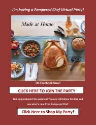 Stella's Pampered Chef Online Catalog and Ordering Link