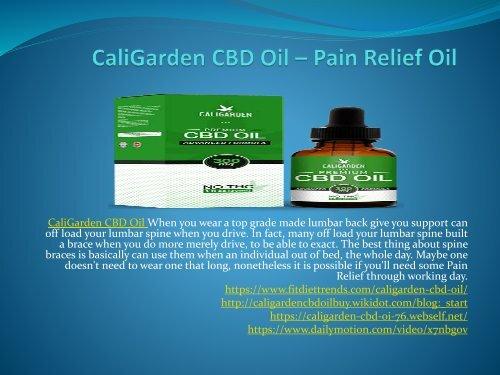 CaliGarden CBD Oil - Improves Sleep Quality And Duration