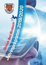 Skiclub Bad Birnbach - Jahresprogramm 2019/2020