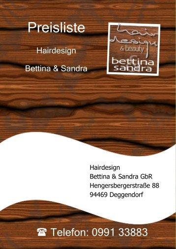 Preisliste Hairdesign Bettina & Sandra