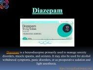 Buy Diazepam Online - VarietyPills