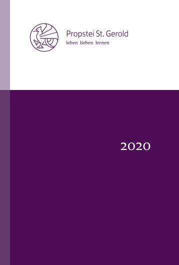 Kultur- und Seminarprogramm 2020 Propstei St. Gerold