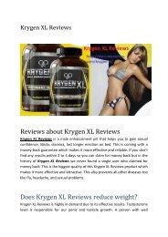 Krygen XL Reviews