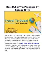 India to Dubai Tour Package | Dubai Trip Packages