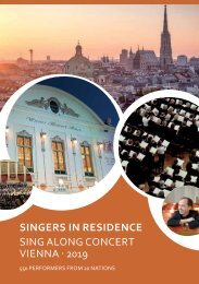 Sing Along Concert Vienna 2019 - Program Book