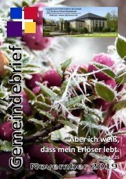 Gemeindebrief November 2019