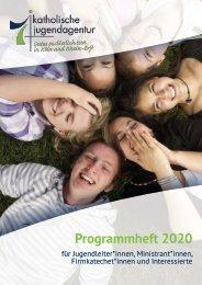 Jahresprogramm 2020 für Jugendleiter*innen, Ministrant*innen, Firmkatechet*innen und Interessierte