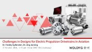 Freddy Gyllensten, Jörg Janning Challenges in Designs for Electric Propulsion