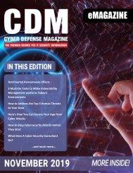 Cyber Defense eMagazine November 2019