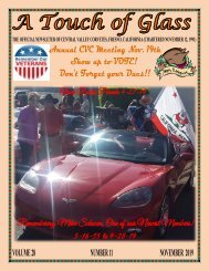 Central Valley Corvettes of Fresno - November 2019