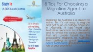 8 Tips For Choosing a Migration Agent to Australia