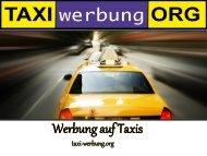Werbung auf Taxis