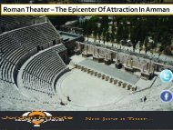 Roman Theater – The Epicenter Of Attraction In Amman