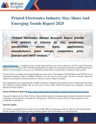 Printed Electronics Industry Size, Outlook, Growth Status And Future Trend Report 2025