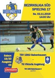 20191102 Fuggermärktler TSV 1862 Babenhausen – TG Viktoria Augsburg