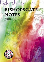 Bishopsgate Notes 2018/19