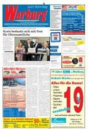 Warburg zum Sonntag 2019 KW 44