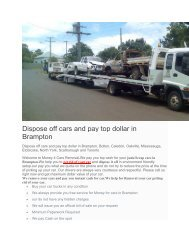 Dispose off cars and pay top dollar in Brampton