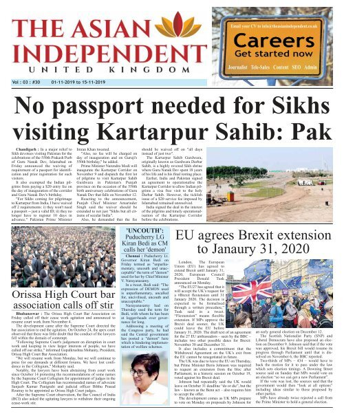 The Asian Independent 01 - 15 Nov. 2019
