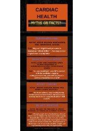 CARDIAC HEALTH - COMMON MYTHS & FACTS