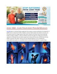 Joint 360 - Cure Your Joint Pain & Muscles
