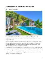 Roquebrune Cap Martin Property For Sale