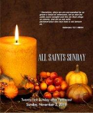 11_03_2019 Twenty_first Sunday After Pentecost 0730am Service WEB
