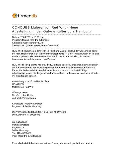 CONQUES Malerei von Rud Witt - Neue Ausstellung in ... - Firmendb