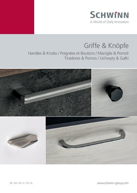 Schwinn Beschläge - Katalog 2019 - Griffe & Knöpfe