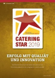 Cooking + Catering inside - Catering Star 2019: