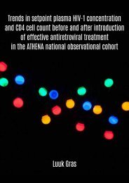 Trends in setpoint plasma HIV-1 concentration  and CD4 cell count before and after introduction  of effective antiretroviral treatment  in the ATHENA national observational cohort. Author: Luuk Gras