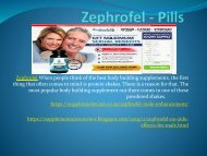 Zephrofel - No Side-Effects For Male Enchenment
