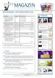 Online Mediadaten - Nur für Special-Partner 2021
