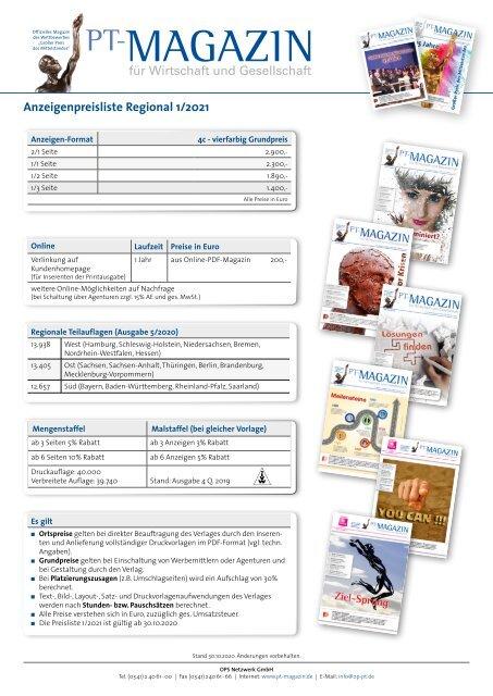 Anzeigenpreisliste Regional 2021