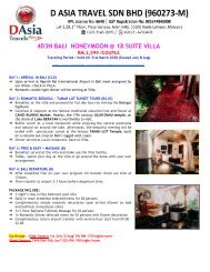 Bali Honeymoon Villa Private Packages - D Asia Travels