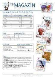 Anzeigenpreisliste Nur für Special-Partner 2020
