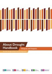 About Drought Handbook: Outputs & Impacts