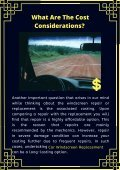 Whether Windscreen Repair Or Replacement? Know the Best Choice - Page 5