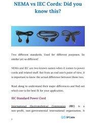 Nema vs IEC Cords: Did you know this?