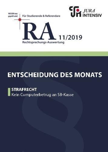 RA 11/2019 - Entscheidung des Monats