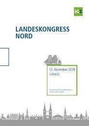 Tagungsmappe iGZ-Landeskongress Nord 2019