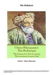 Scarica The Rubaiyat Libri Gratis (PDF, ePub, Mobi) Di Omar Khayyam