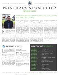 Principal's Newsletter - November 2019