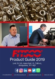 Fitsco Threaded Inserts Product Guide