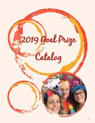 2019 Store Goal Prize Catalog