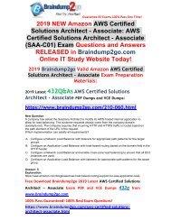 Aws solution architect associate dumps pdf free 2020