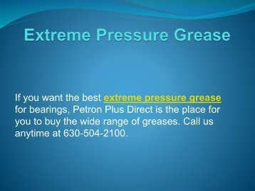Extreme Pressure Grease